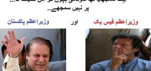 PM Pakistan Vs PM Facebook Pakistan