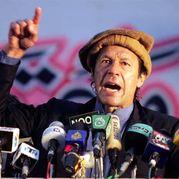 Imran Khan, former cricket player of Pakistan National Cricket team, also known as cricket-player-turned-politician.