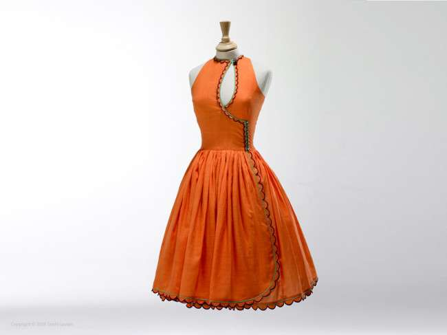 Brigh-orange-dress