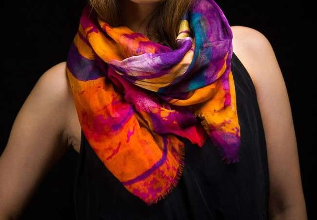 bold neon scarf