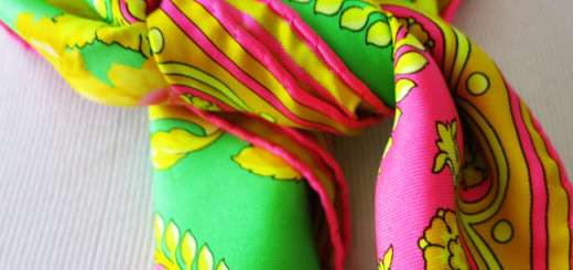 neon colour scarf
