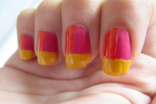 three nail colours