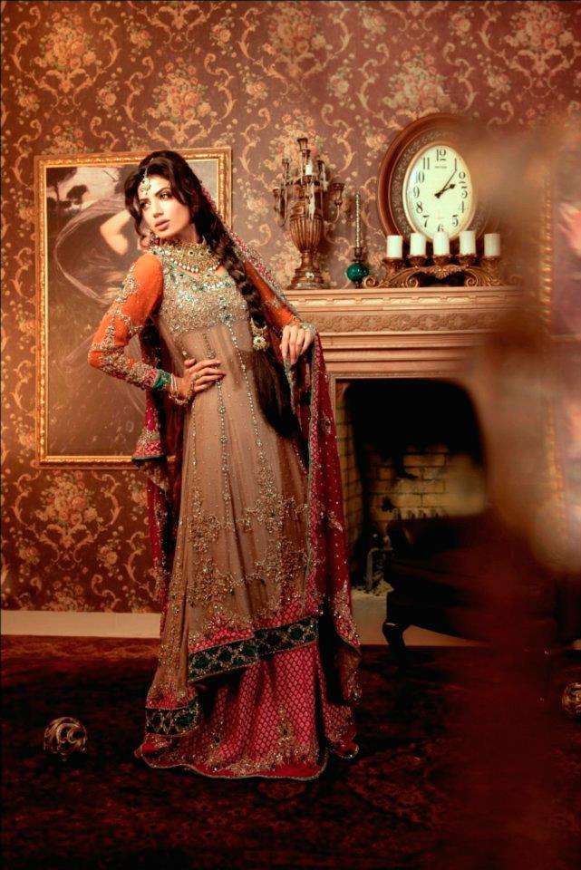 Mehndi Dresses By Maria B : Maria b bridal wear collection
