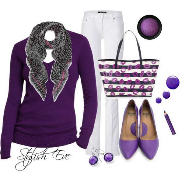Purple Winter 2013 Outfits for Women by Stylish Eve 8