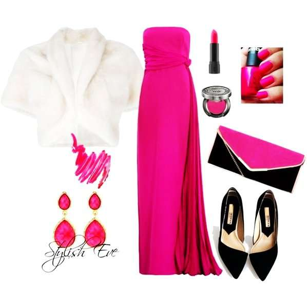 pink winter 2013 outfits for women by stylish eve-f42697