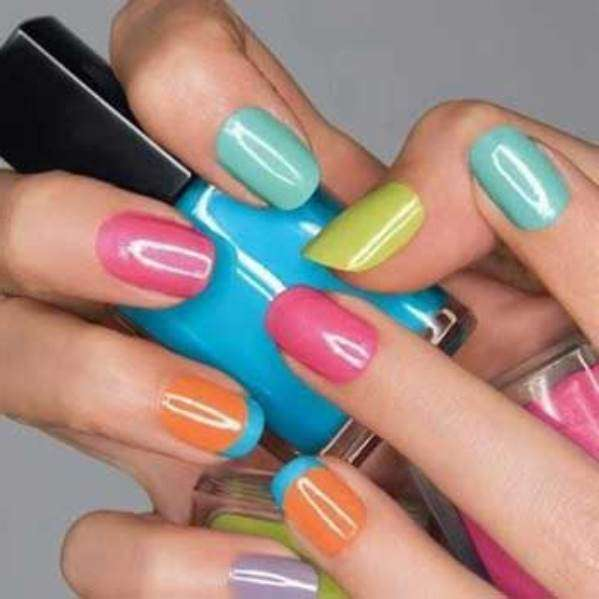 different nail colours
