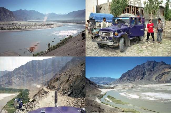 01 View Ahead From Skardu Loading The Jeep For Ride From Skardu Towards Shigar Valley Famous Valleys of Pakistan