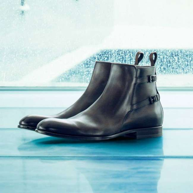 Hugo-Boss-is-Foot-Wear-fall-collection-2013-for-men-and-women-Leather-ankle-boot-monk-shoe-T-Strap-Heels
