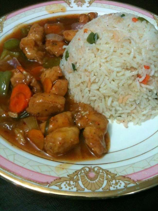 manchurian with fried rice