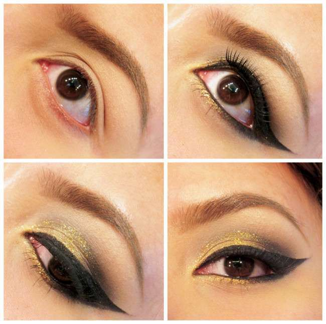 How To Do Gold Eye Makeup