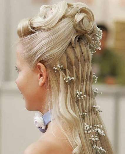 Hairstyle For Brothers Wedding: Waterfall Braid Wedding Hairstyle For Long Hair