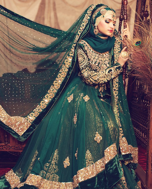 Islamic Wedding Dresses Tumblr : Bridal hijab trends