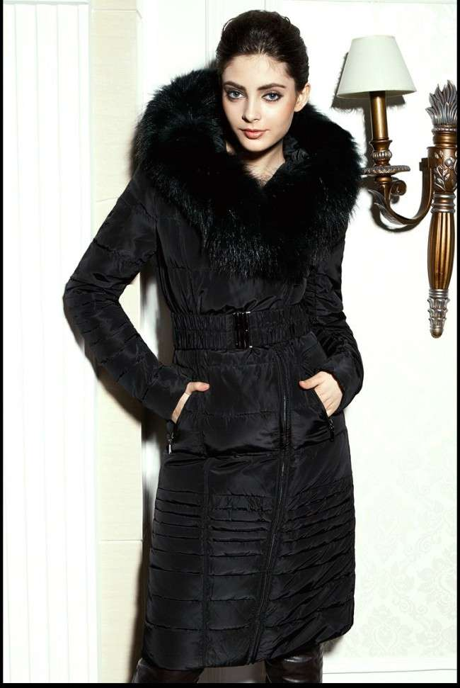 Images of Woman S Long Winter Coats - Reikian