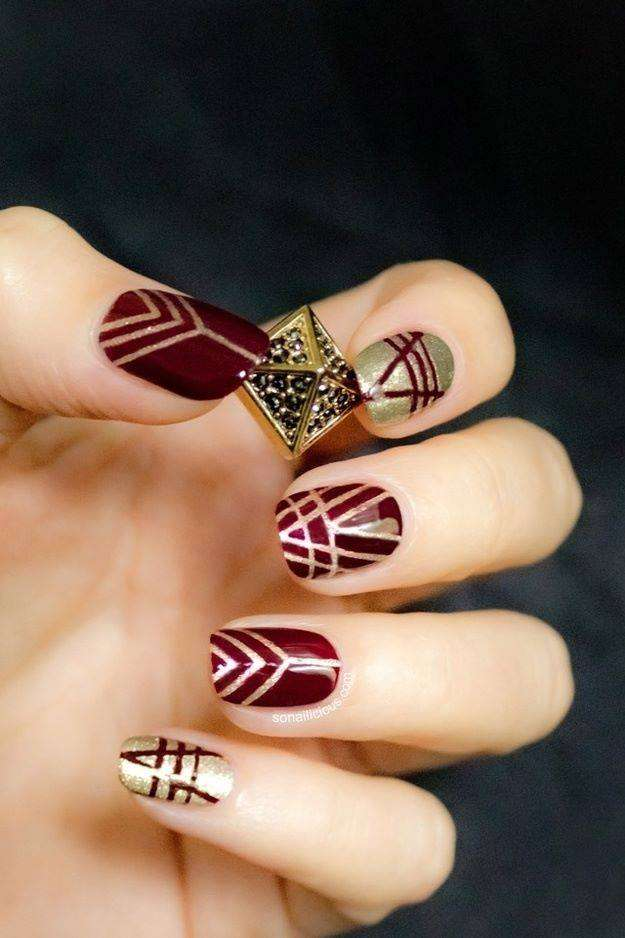 These Nail Art Designs For The Year Of 2014 Are Very Easy And Different Looking Everyone Can Try By Using Double Coat Or Multi Coated
