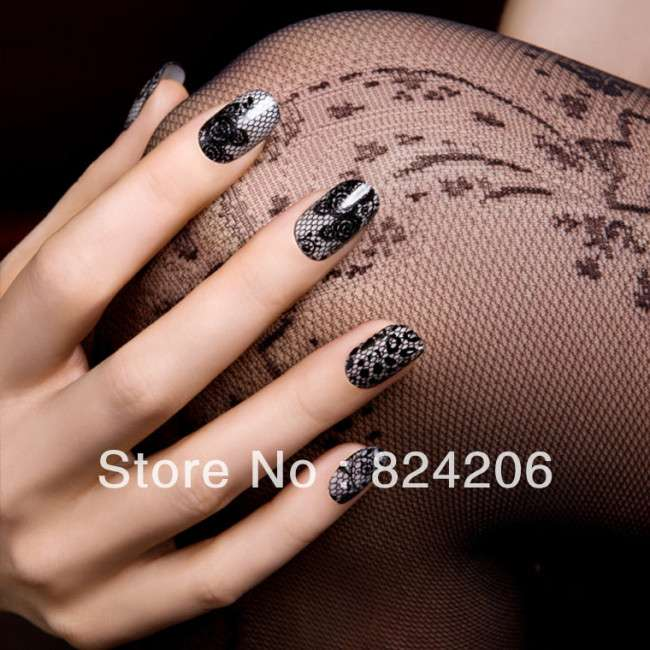 Elegant Lace Nail Art Ideas 2014
