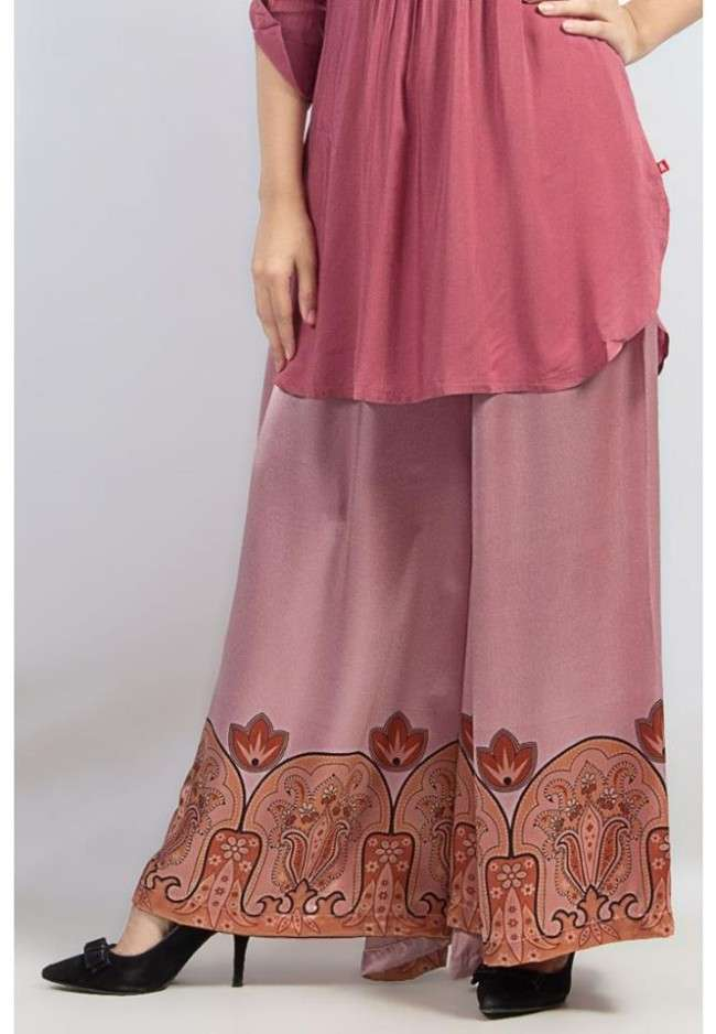 Grapes 2014 Printed Palazzo Slwar Short Kurta Collection For Girls 1 Collection of Palazzo Pants with Short Shirts 2014