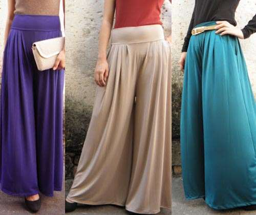 Palazzo Pants With Long Shirts For Valentines Day 002 Collection of Palazzo Pants with Short Shirts 2014