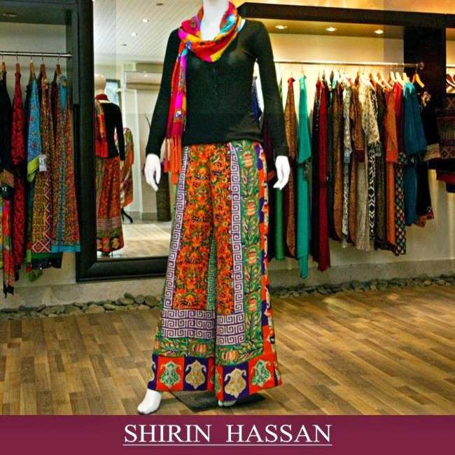Shirin Hassan Ethereal Collection 2014 2015 For Winter Styleslook.blogspot.com 028 3 Collection of Palazzo Pants with Short Shirts 2014