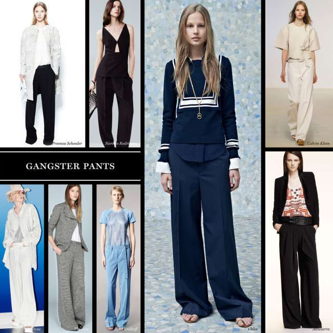 a 4x Collection of Palazzo Pants with Short Shirts 2014