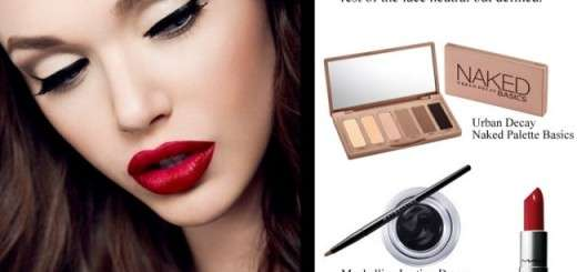 valentine's day makeup look classic beauty red lips gel liner-001
