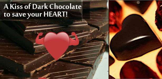 dark chocolate healthy for heart
