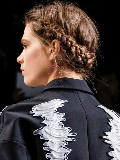 viktor and rolf fall 2013 braided updo