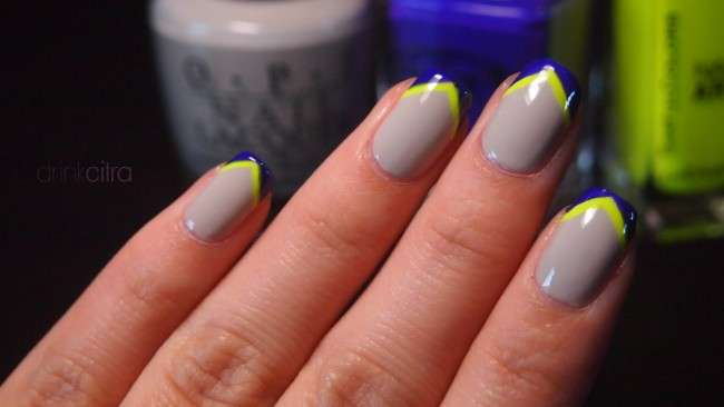 How To Do Chevron Tip Nail Art At Home