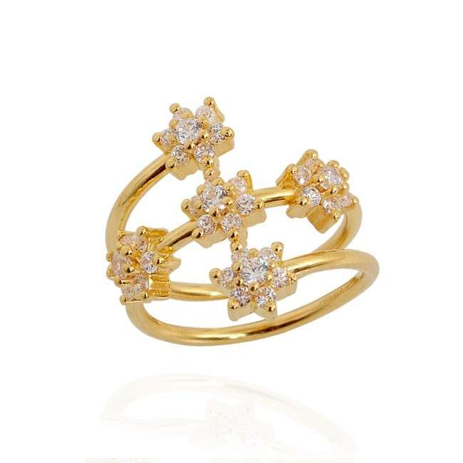Pakistani Yellow Diamond Ring