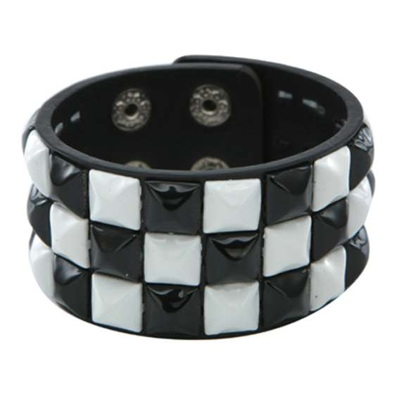 White  Pyramid Studded Wristband